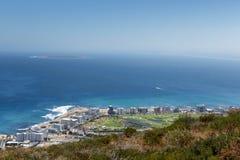 从信号小山的海滩视图 图库摄影