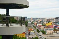 信号小山观测所塔在亚庇,马来西亚 库存图片