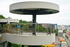 信号小山观测所塔在亚庇,马来西亚 免版税库存图片