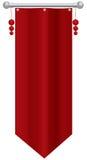 信号旗-垂直的旗子 库存例证