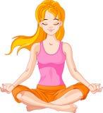信奉瑜伽者女孩 库存照片