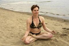 信奉瑜伽者 库存图片