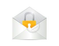 信封和锁例证设计 库存照片