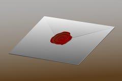 信封密封与在标志 免版税库存照片