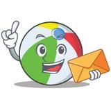 信封球字符动画片样式 免版税图库摄影