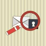 信封象设计,传染媒介例证 免版税库存图片