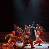 信徒中国民间舞爱好者方法 库存照片
