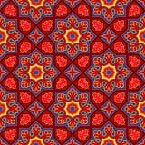 信德人传统样式背景,红色&蓝色墙纸 免版税库存图片
