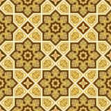 信德人传统样式背景,金黄墙纸 图库摄影
