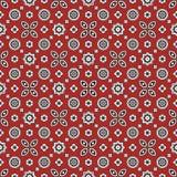 信德人红色Ajrak样式 图库摄影