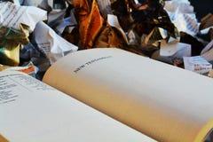 信念和圣经 库存图片