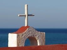 信念的十字架、标志和希望 库存图片