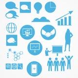 信息业和企业Infographic元素 库存图片
