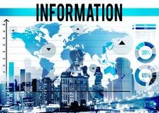 信息事实研究结果来源概念 免版税库存照片