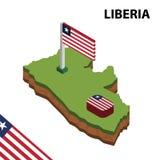 信息利比里亚的图表等量地图和旗子 r 向量例证