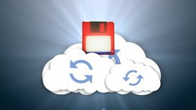 信息和云彩 基于云彩的媒介存贮 获取在线式存储 库存例证