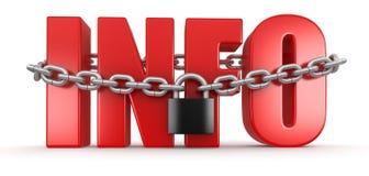 信息和锁(包括的裁减路线) 免版税库存图片