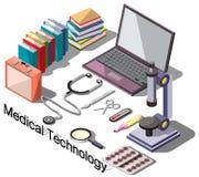 信息图表医疗概念的例证 库存照片