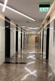 信息技术公司的美丽的入口边路 免版税库存图片