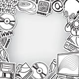 信息技术设备-框架背景 免版税库存照片