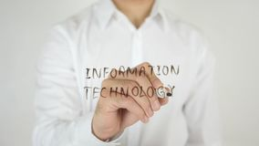 信息技术,写在玻璃 库存图片