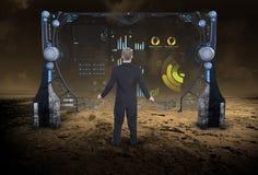 信息技术,数据,事务,科幻 免版税库存图片