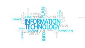 信息技术,生气蓬勃的印刷术 库存例证