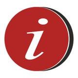 信息标志象-红色 免版税图库摄影