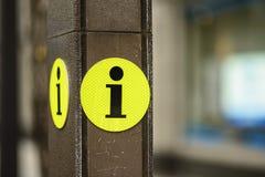 信息标志 免版税库存照片