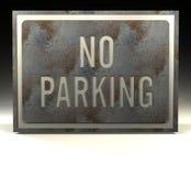 信息禁止停车符号 向量例证