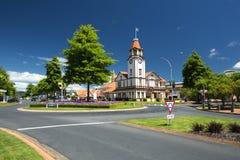 信息/旅游中心,罗托路亚,新西兰 免版税库存照片