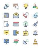 信息&网站象,彩色组-导航例证 免版税图库摄影