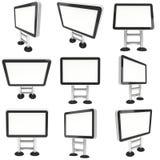 信息LCD屏幕地板立场集合 免版税库存图片