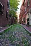 信标岗是联邦式rowhouses一个富裕的邻里,与某些最高的特性值在美国 图库摄影