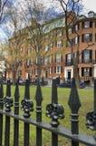 信标岗的,波士顿,麻省Louisburg广场 免版税图库摄影