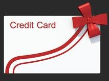 信用卡作为礼物 免版税库存照片