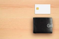 信用卡和钱包 库存图片