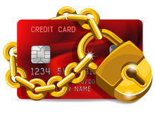 信用卡在保护下 免版税库存照片