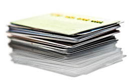 信用卡堆 图库摄影
