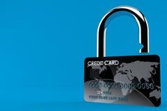 信用卡挂锁概念 向量例证
