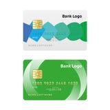 信用卡摘要设计 免版税库存图片