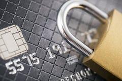 信用卡支付安全 免版税库存照片