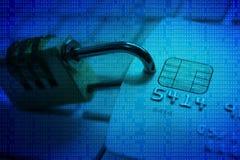 信用卡数据保密 图库摄影