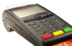 信用卡机器关闭 免版税库存照片