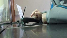 信用卡机器芯片和Pin 影视素材