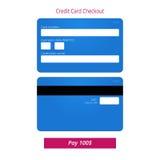 信用卡结算离开形式和递交按钮 免版税库存照片