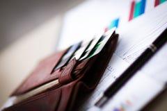 信用和折扣卡片 库存图片