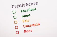 信用评分形式 免版税库存图片