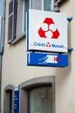 信用mutuel法国银行标志 库存图片