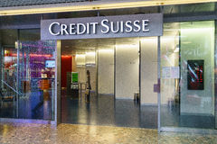 信用Suisse银行 免版税库存图片